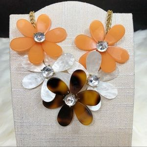 Fall Flower Statement Necklace